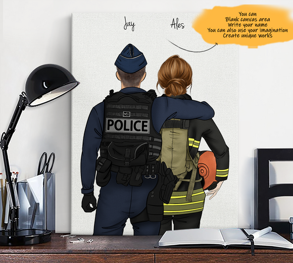 Customize Canvas Print-Gendarmerie and Gril