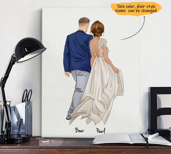 Custom hand-painted canvas print gift-wedding-wedding-anniversary