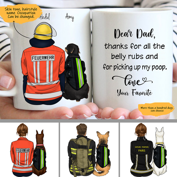 Customize Mug - Fireman and Dogs