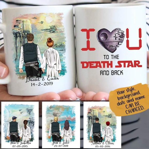 Customize Mug Gift for Couple- Bathing In The Sun