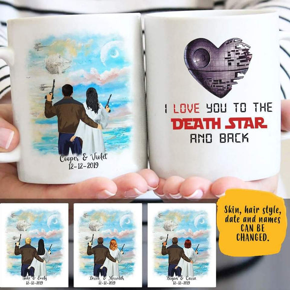 Customize Mug Gift for Couple- Blue Sky
