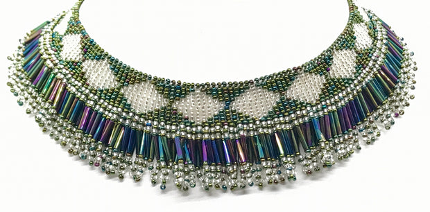 Beaded Frilly Necklace