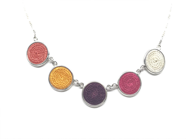 Sisal Five Disc Necklace