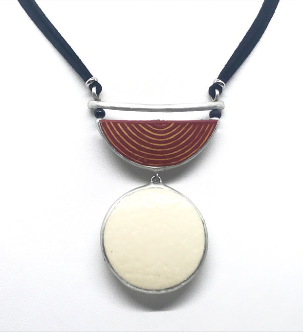Ostrich Moon Necklace