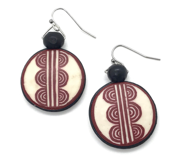 Ostrich Leather Earrings