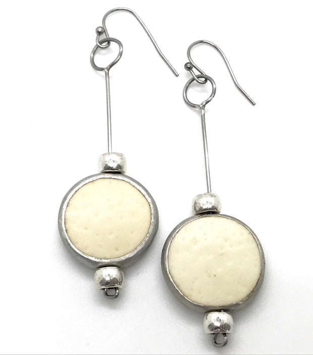 Ostrich Drop Earring