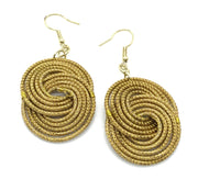 Gold Grass Earring Large