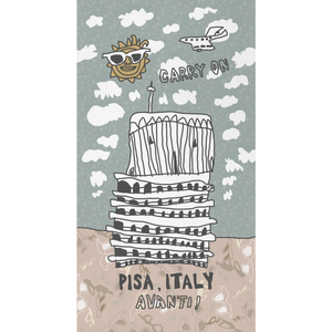 Leaning Pisa Little Fleece Blanket