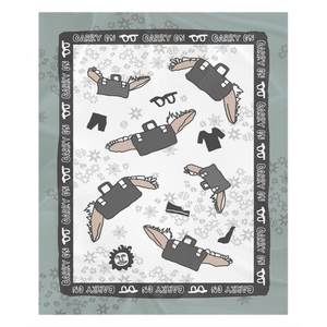 Flying Suitcases Sherpa Blanket