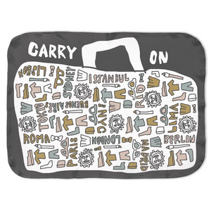Carry On! Let's Go Swaddle Blanket