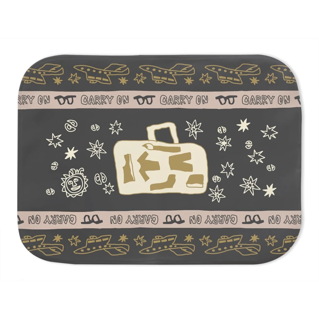 Carry On Flight Path Vapor Fleece Blanket SMALL