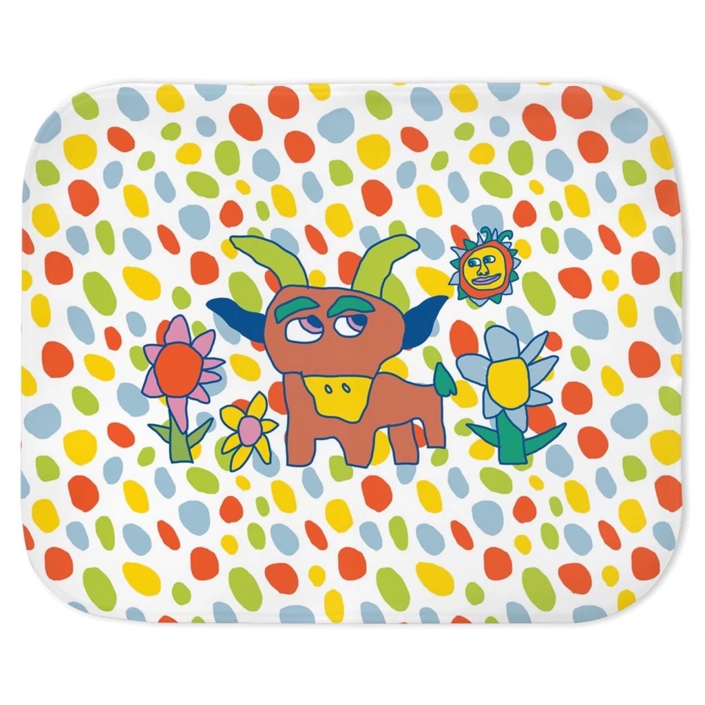 Spot on Goat 'n Flower Vapor Fleece Throw
