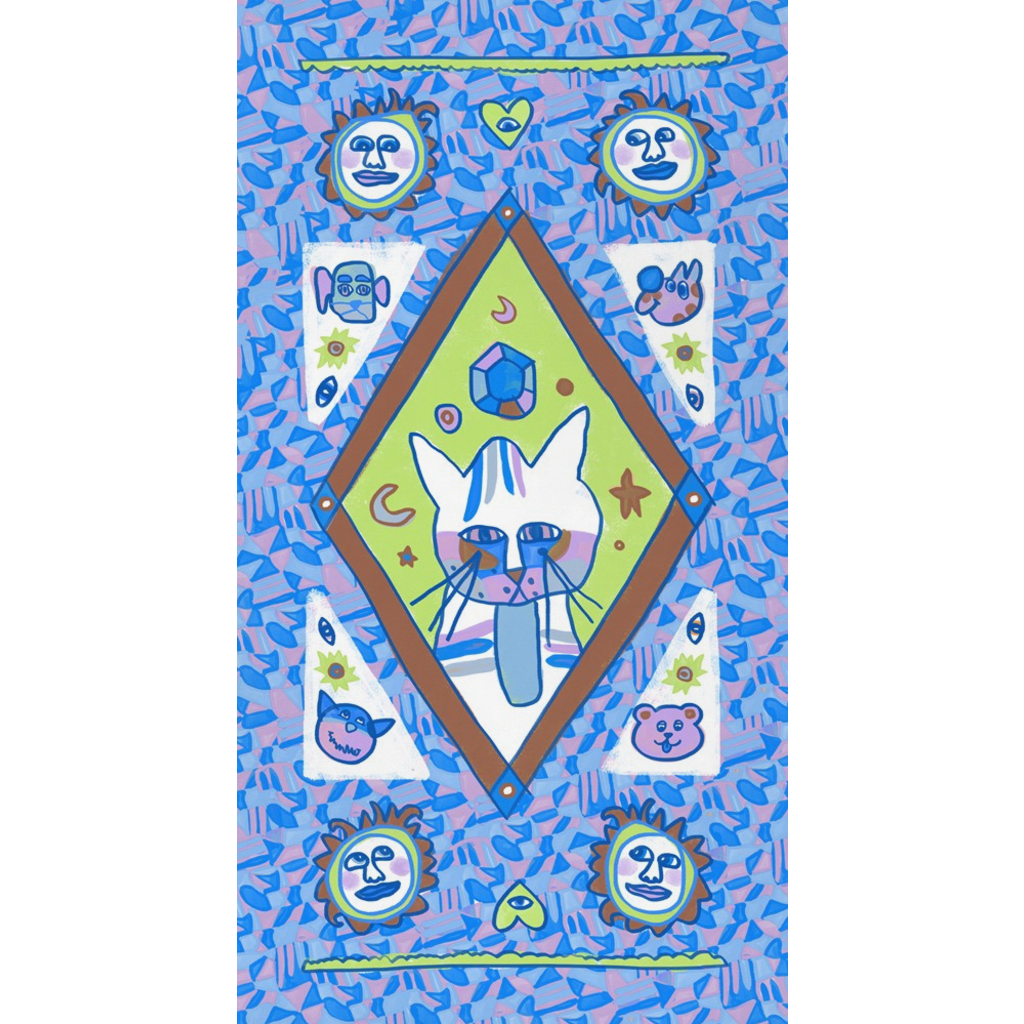 Cool Major Arcana Kitty Value Fleece Blanky
