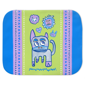 How Now Blue Cow? Vapor Fleece Throw