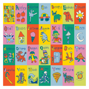 Twenty-Six and Me Alphabet Wall Art Poster