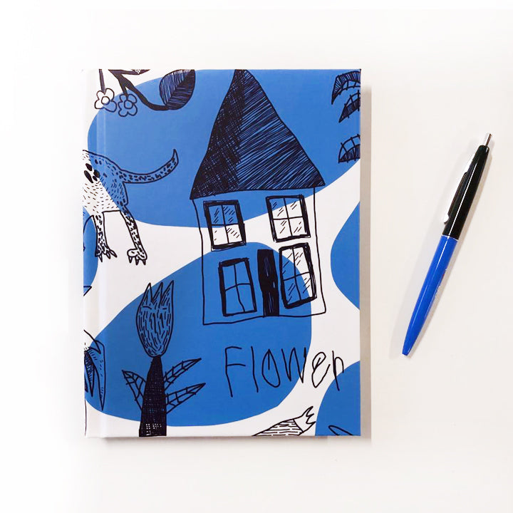 Stone & Etch Lined Journal in Royal Blue