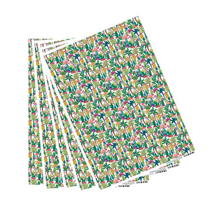 Jungla Reunion Purple Palm Wrapping Paper - 5 sheets