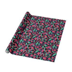 Magic Garden Hot Black Raspberry Wrapping Paper - Roll