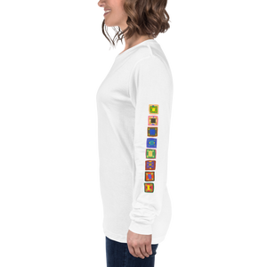 16 Squares Unisex Long Sleeve Tee
