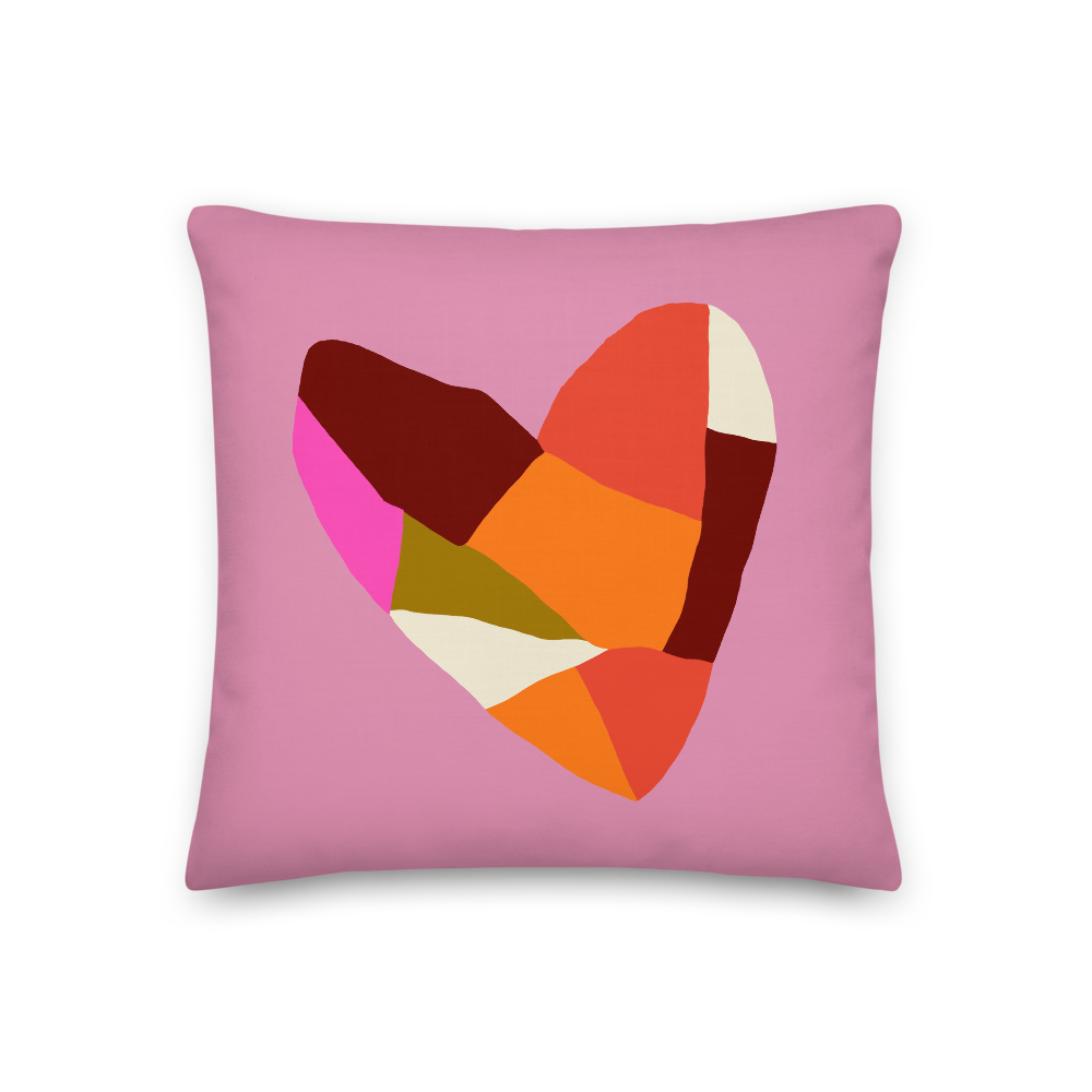 Hearts Parts Double-Sided Pillow