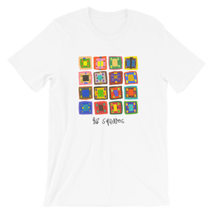16 Squares Light Colors Unisex Tee