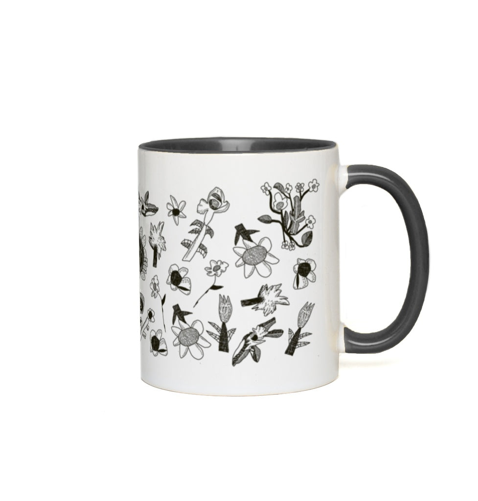Stone & Etch Mug in Black