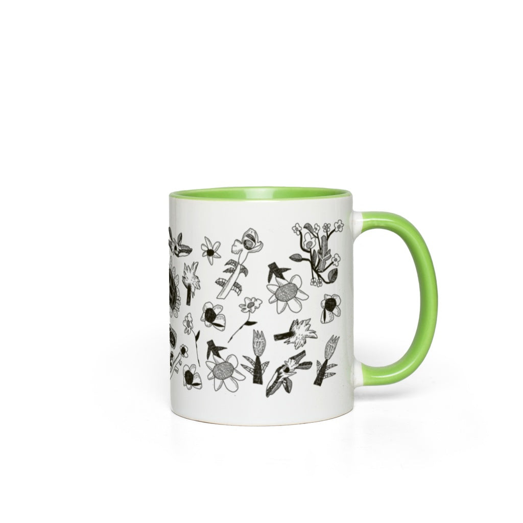 Stone & Etch Mug in Black Kiwi