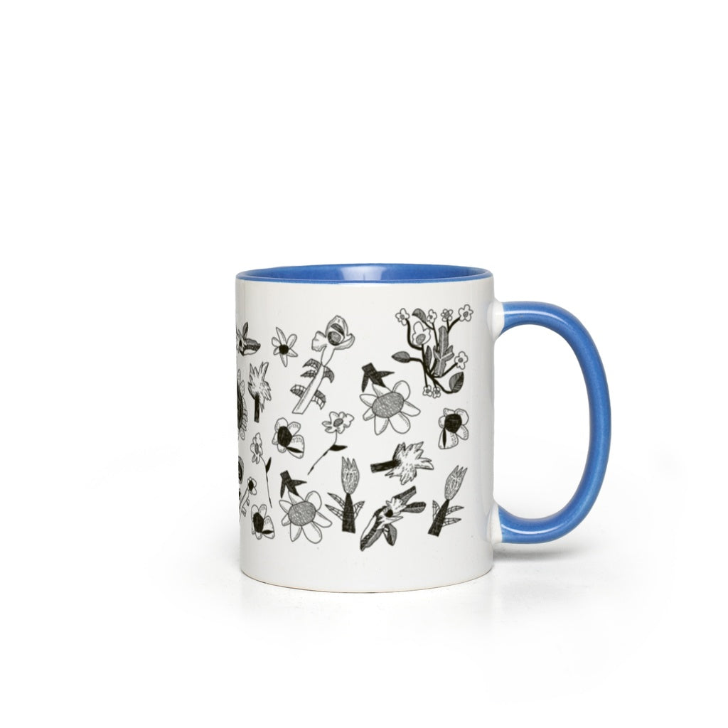 Stone & Etch Mug in Sky Blue