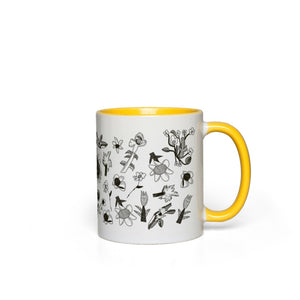 Stone & Etch Mug in Black Sunflower