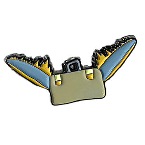 Flying Suitcase Enamel Pin