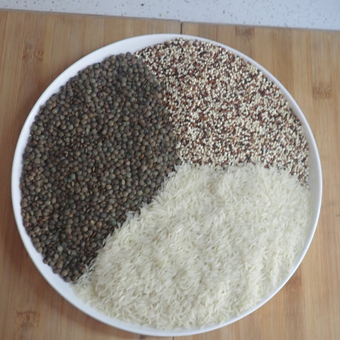 Mixed grain and lentils