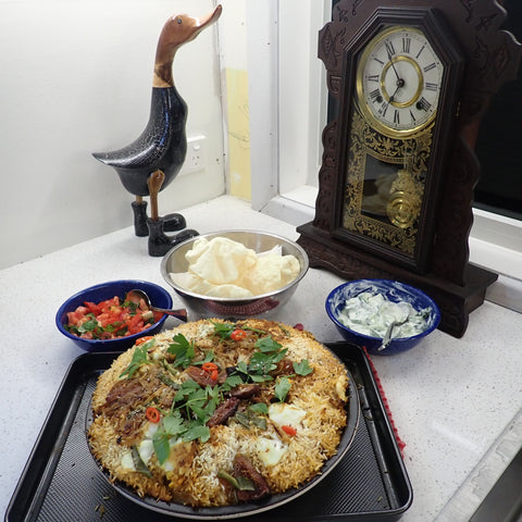 Lamb Biriyani with Figs and Kaffir Lime