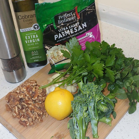 Pasta with Broccolini and Pesto - Ingredients