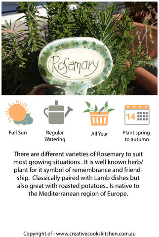 Information Cards - Rosemary