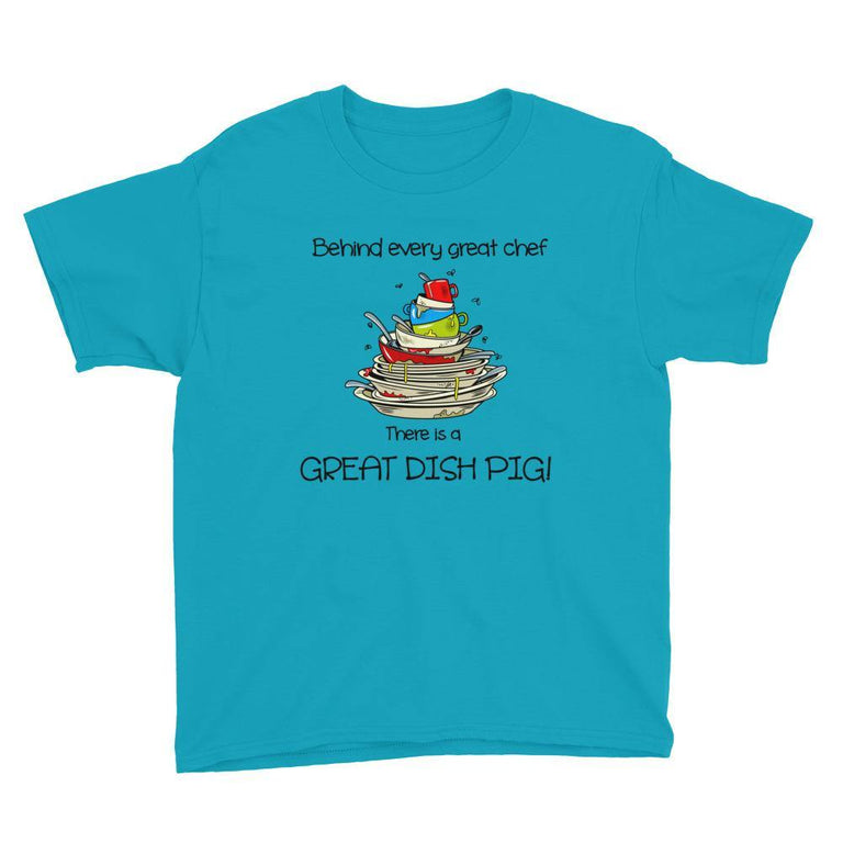 Kids T-Shirt - Great Dish Pig (Light Shirts)