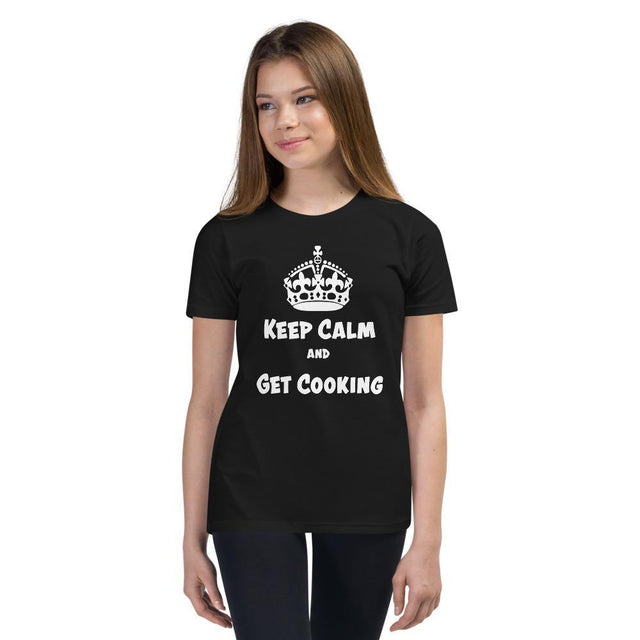 Kids T-Shirt - Keep Calm and Get Cooking (Dark Shirts)