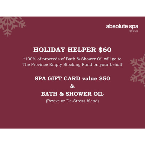 Absolute Spa - HOLIDAY HELPER