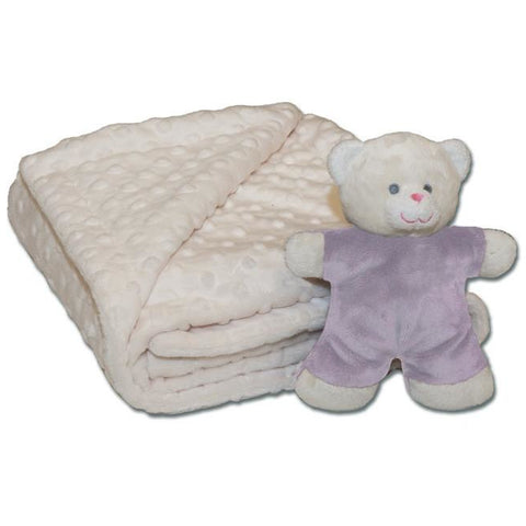 WARM BUDDY: Blanket & Mini Bear Set