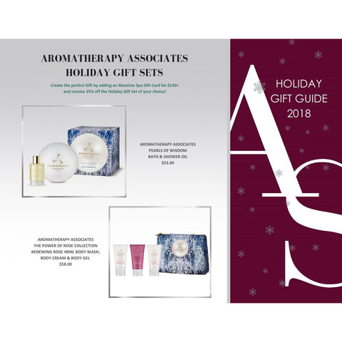 ABSOLUTE SPA - Holiday 2018 Aromatherapy Associates The Power of Rose Collection