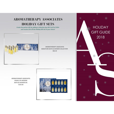 ABSOLUTE SPA - Holiday 2018 Aromatherapy Associates Miniature Bath & Shower Collection