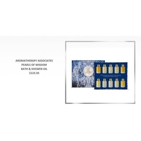 ABSOLUTE SPA - Holiday 2018 Aromatherapy Associates Pearls of Wisdom Bath & Shower Oil Collection
