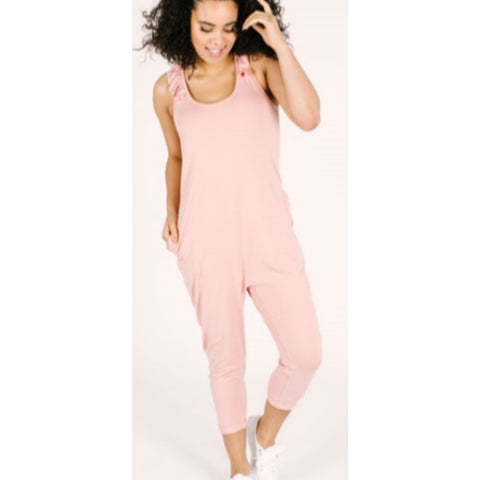 Smash + Tess Sweetheart Romper- Pretty Pink