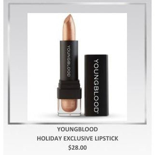 ABSOLUTE SPA - Holiday 2018 Youngblood Holiday Lipstick in Holiday Invite Only or Holiday Exclusive