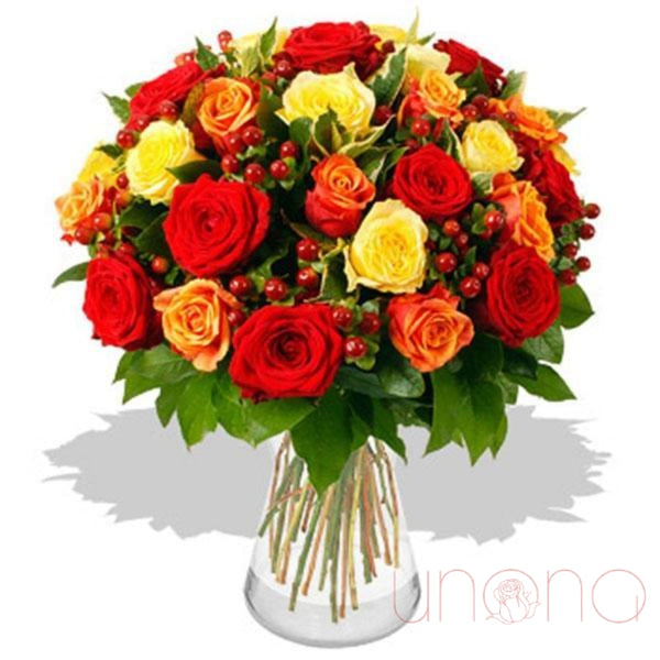 Autumn Charm 31 Roses Bouquet