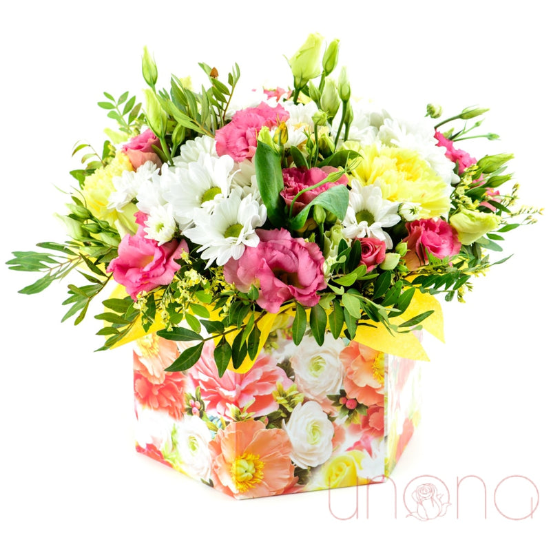 Bright Surprise Arrangement Box Regular: Fresh Quality Flowers By Holidays