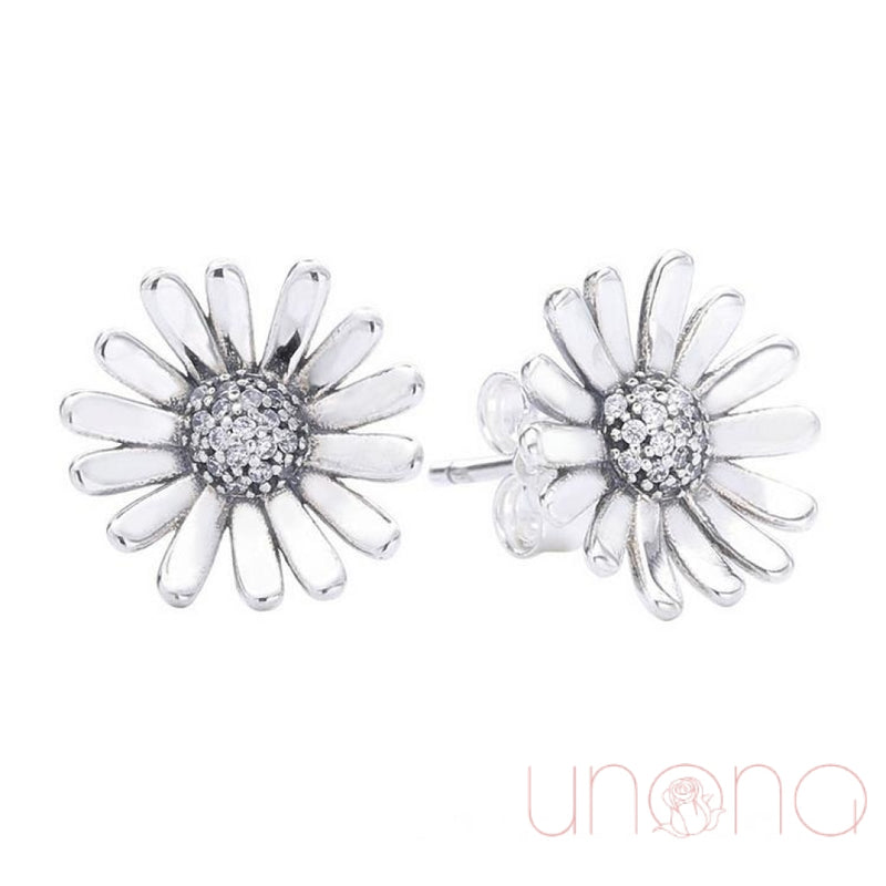 Daisy Silver Stud Earrings By Holidays