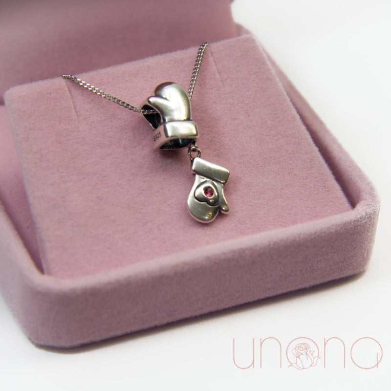 Lovely Mitts Silver Necklace By Price