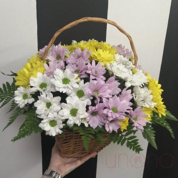 Moms Day Flowers Basket By Holidays