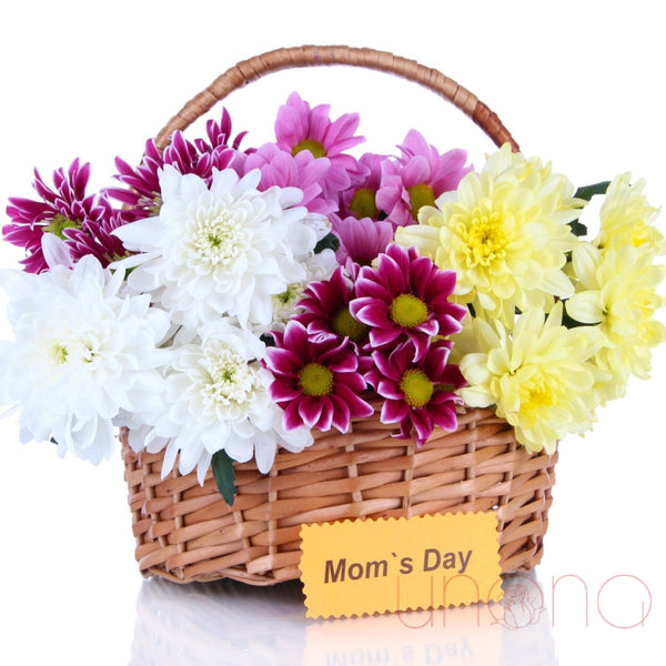 Moms Day Flowers Basket Regular: Fresh Quality Flowers By Holidays