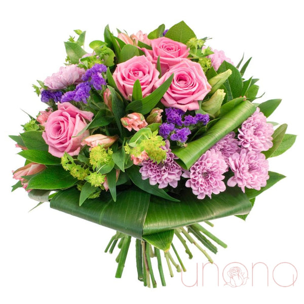 Pink Romance Bouquet Regular: Fresh Quality Flowers Flowers